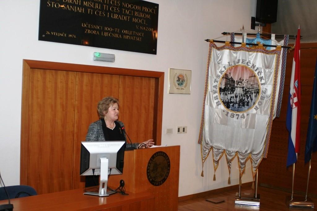 Prof. dr. sc. Jasna Lipozenčić, predsjednica Akademije medicinskih znanosti Hrvatske