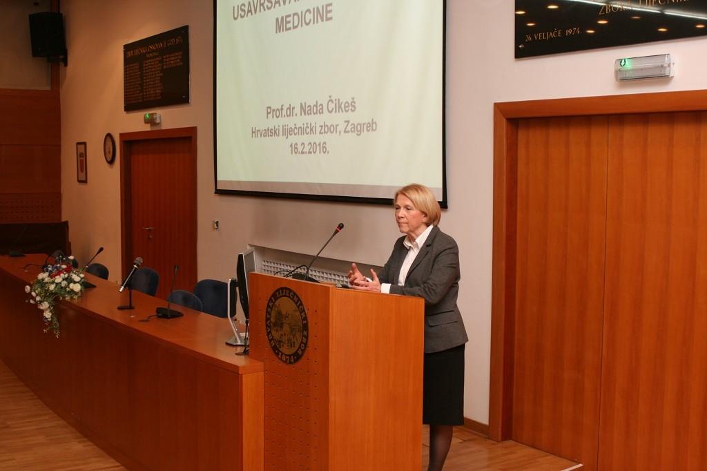prof. dr. sc. Nada Čikeš, predsjednica Nacionalnog povjerenstva za specijalističko usavršavanje doktora medicine