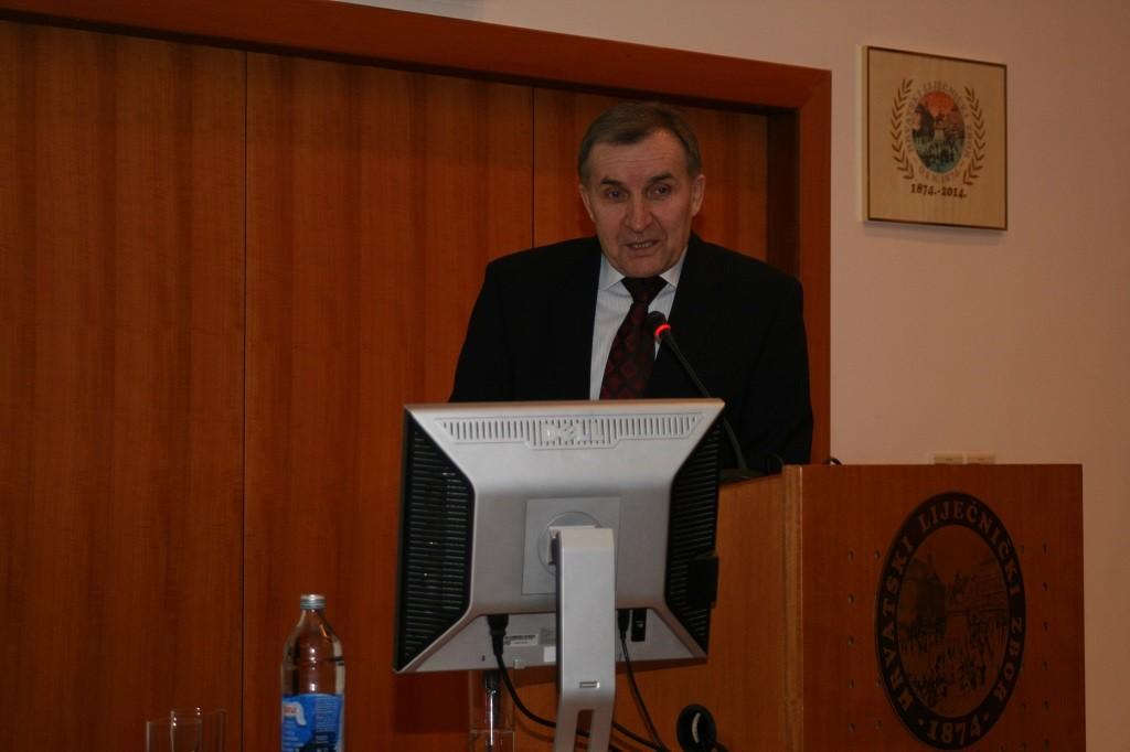 Akademik Josip Madić održao predavanje na simpoziju Akademici u Hrvatskome liječničkom zboru