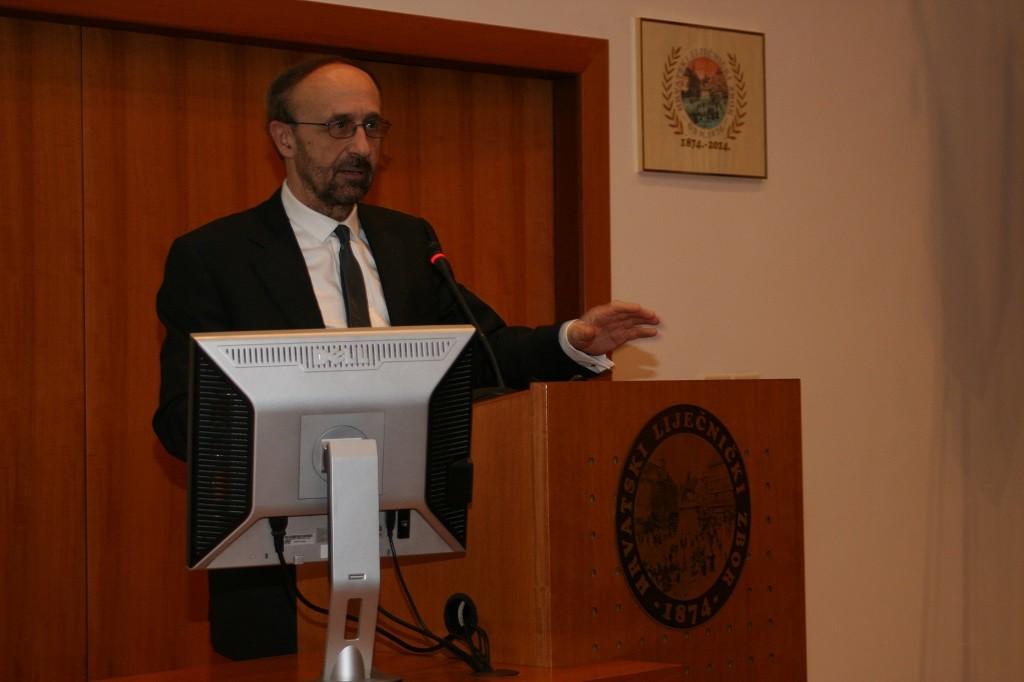 Akademik Slobodan Vukičević održao predavanje na simpoziju Akademici u Hrvatskome liječničkom zboru
