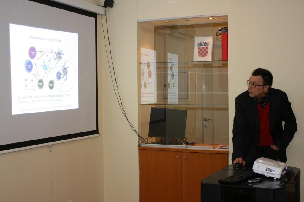 Prof. dr. sc. Antonio Juretić održao je predavanje na stručnom sastanku o imunoterapiji tumora u Hrvatskome liječničkom zboru