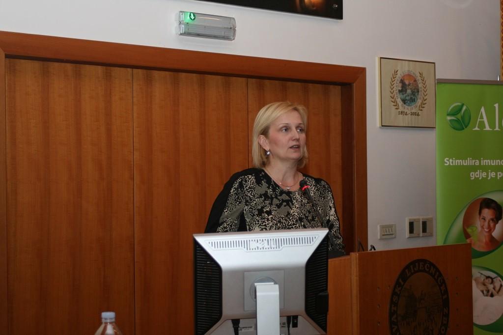 Prof. dr. sc. Branka Marinović na simpoziju o suvremenim načinima liječenja HPV infekcija u Hrvatskome liječničkom zboru