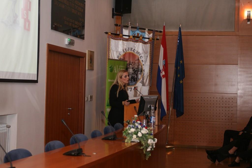 Prof. dr. sc. Suzana Ljubojević Hadžavdić na simpoziju o suvremenim načinima liječenja HPV infekcija u Hrvatskome liječničkom zboru