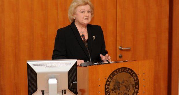 Prof. dr. sc. Jasna Lipozenčić na obilježavanju 55. godina postojanja Akademije medicinskih znanosti Hrvatske u Hrvatskome liječničkom zboru