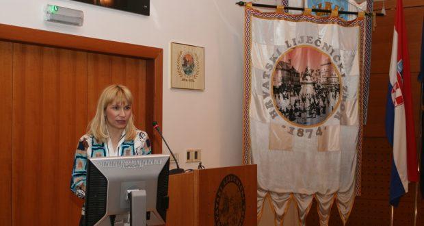 Dr. sc. Martina Matovinović Osvatić održala predavanje o šećernoj bolesti u Hrvatskome lječničkom zboru