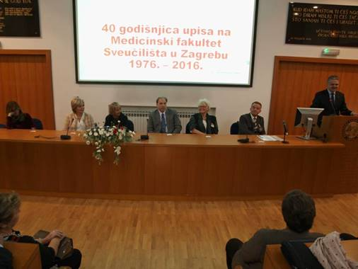 40. godišnjica upisa na Medicinski fakultet Sveučilišta u Zagrebu u Hrvatskome liječničkom zboru