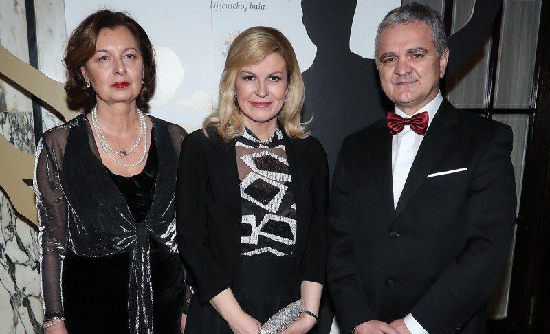 Suzana Krznarić, Kolinda Grabar Kitarović i Željko Krznarić Izvor: Pixsell / Autor: Robert Anić